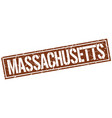 massachusetts brown square stamp vector image vector image
