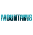 Mountains sign vector image