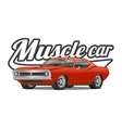 Muscle car cartoon classic poster t-shirt vector image
