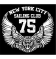New york city sailing club art vector image vector image