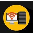 pc data base wifi arrow vector image vector image