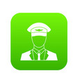 pilot icon digital green vector image