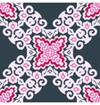 pink Abstract Floral Pattern vector image vector image