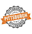 pittsburgh round ribbon seal vector image vector image