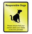 responsible dogs vector image vector image