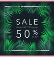 sale up to 50 percent season discounts banner vector image vector image