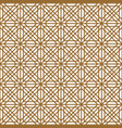 seamless traditional japanese geometric ornament vector image
