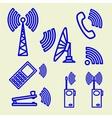 Set Icons of communication vector image vector image