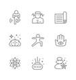 set line icons meditation and yoga vector image vector image