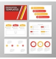 Set of orange and red template for multipurpose vector image