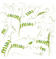 set plant leaves in green color mouse peas vector image