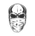 Skull in medical mask