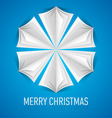 Snowflake Corner paper 04 vector image