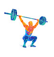 strong man powerlifting vector image vector image