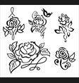 stylized rose vector image vector image