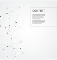 technology background with connected line and dots vector image vector image