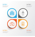 transportation icons set collection of vector image