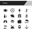 travel icons design for presentation graphic vector image