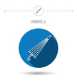 Umbrella icon Water protection sign vector image