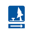 usa traffic road signsrest area ahead vector image