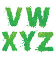 v w x y z handdrawn english alphabet vector image vector image