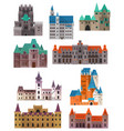 vintage or retro castles or forts citadel and vector image