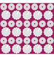 White flowers on pink background pattern vector image vector image