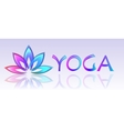 Yoga lotus logo on white background vector image vector image