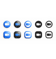 zoom modern 3d and flat icons set vector image
