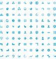 100 diagram icons vector image vector image