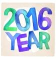 2016 Year watercolor inscription vector image vector image