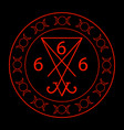 666- the number of the beast with the sigil of luc vector image vector image