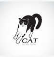 a cat on white background pet animals vector image vector image