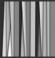 abstract monochrome striped background vector image