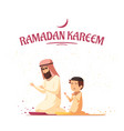 arab muslims ramadan kareem cartoon vector image