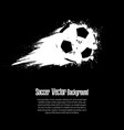 background abstract soccer ball from blots vector image vector image