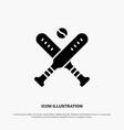 ball baseball bat bats solid glyph icon vector image