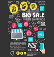 big sale online shopping poster vector image vector image