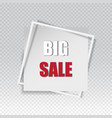 big sale square banner black friday design vector image