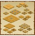Big set of paving tiles Egyptian theme vector image