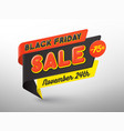 black friday sale banner template tag special vector image vector image