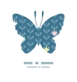 blloming vines stripes butterfly silhouette vector image vector image