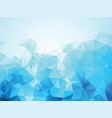 blue ice background vector image vector image