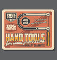 bow saw or manual fretsaw tool retro vector image