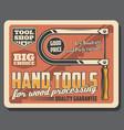 bow saw or manual fretsaw tool retro vector image vector image