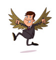 businessman with wing vector image vector image