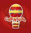 carnival amusement park vector image vector image
