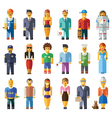 Cartoon flat people different characters vector image vector image