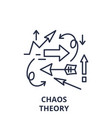 chaos theory line icon concept chaos theory vector image