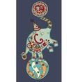 circus theme - elephant balancing on a ball on vector image vector image